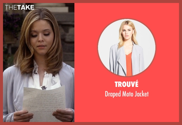Trouvé gray jacket from Pretty Little Liars seen with Alison DiLaurentis (Sasha Pieterse)