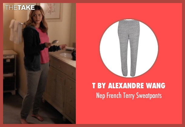T by Alexandre Wang gray sweatpants from Pretty Little Liars seen with Alison DiLaurentis (Sasha Pieterse)