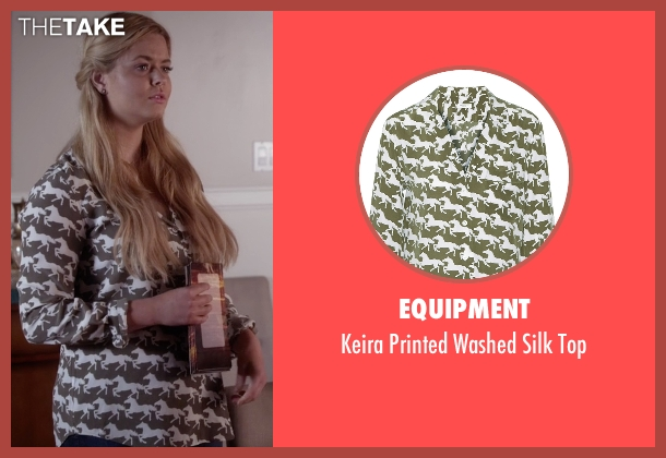 Equipment green top from Pretty Little Liars seen with Alison DiLaurentis (Sasha Pieterse)