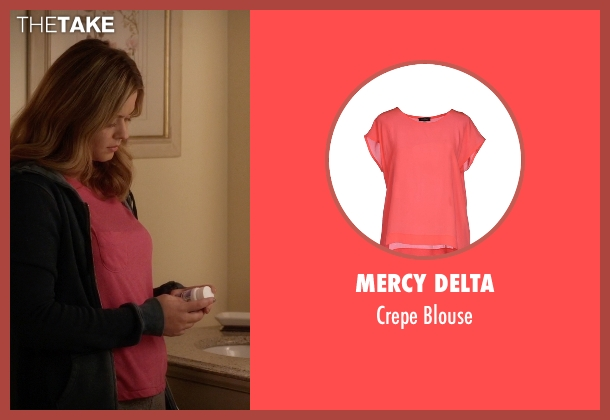 Mercy Delta pink blouse from Pretty Little Liars seen with Alison DiLaurentis (Sasha Pieterse)