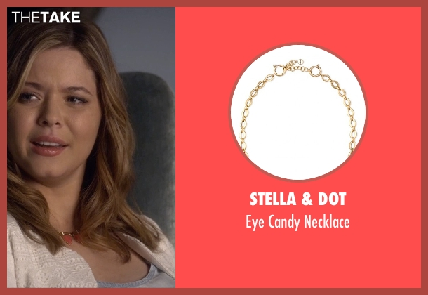 Stella & Dot pink necklace from Pretty Little Liars seen with Alison DiLaurentis (Sasha Pieterse)