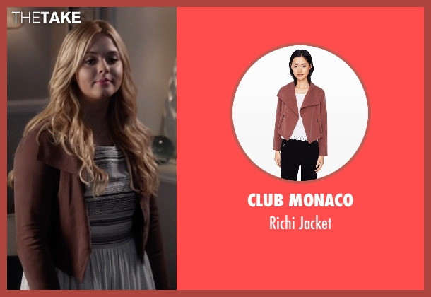 Club Monaco red jacket from Pretty Little Liars seen with Alison DiLaurentis (Sasha Pieterse)