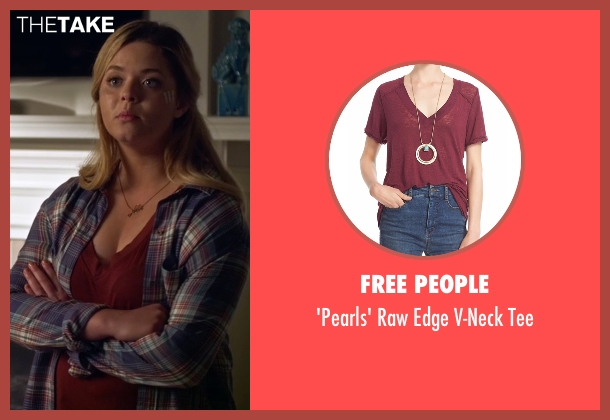 Free People red tee from Pretty Little Liars seen with Alison DiLaurentis (Sasha Pieterse)