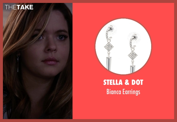Stella & Dot silver earrings from Pretty Little Liars seen with Alison DiLaurentis (Sasha Pieterse)
