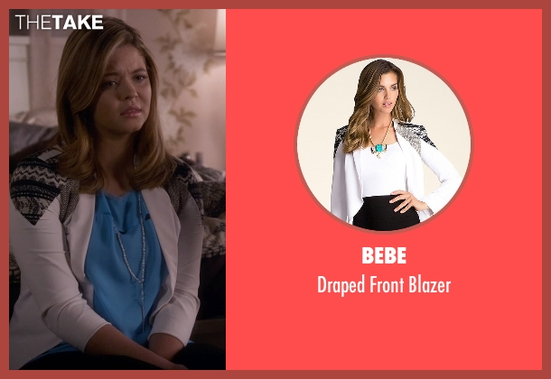 Bebe white blazer from Pretty Little Liars seen with Alison DiLaurentis (Sasha Pieterse)