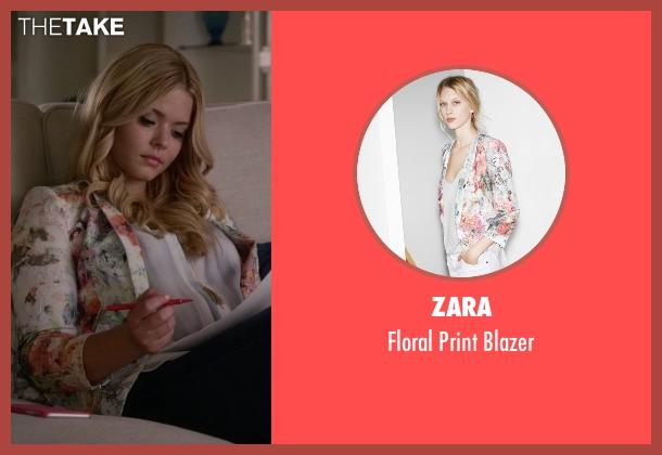 Zara white blazer from Pretty Little Liars seen with Alison DiLaurentis (Sasha Pieterse)