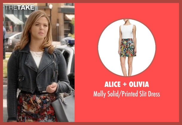 Alice + Olivia	 white dress from Pretty Little Liars seen with Alison DiLaurentis (Sasha Pieterse)