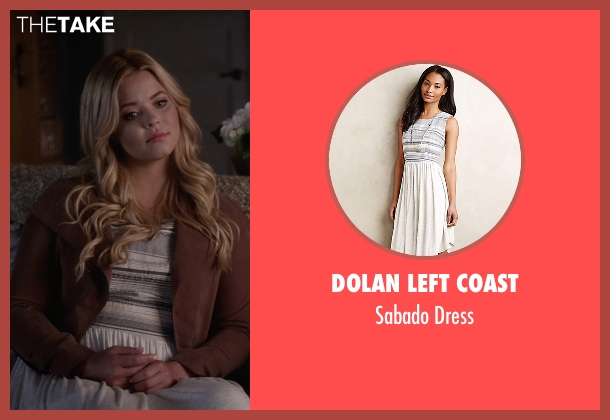 Dolan Left Coast white dress from Pretty Little Liars seen with Alison DiLaurentis (Sasha Pieterse)