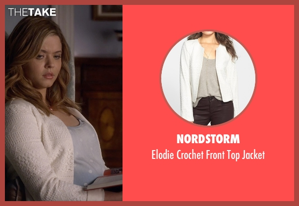 Nordstorm white jacket from Pretty Little Liars seen with Alison DiLaurentis (Sasha Pieterse)