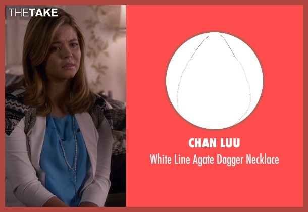 Chan Luu white necklace from Pretty Little Liars seen with Alison DiLaurentis (Sasha Pieterse)