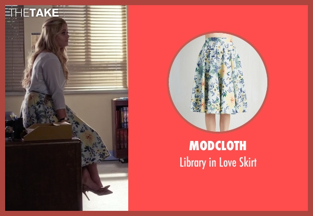 ModCloth white skirt from Pretty Little Liars seen with Alison DiLaurentis (Sasha Pieterse)