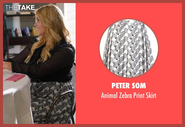 Peter Som white skirt from Pretty Little Liars seen with Alison DiLaurentis (Sasha Pieterse)