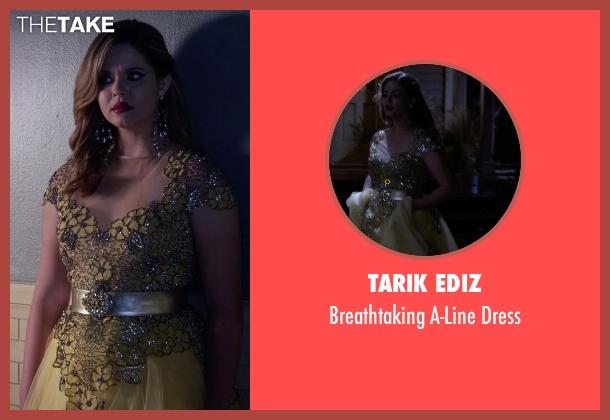 Tarik Ediz yellow dress from Pretty Little Liars seen with Alison DiLaurentis (Sasha Pieterse)