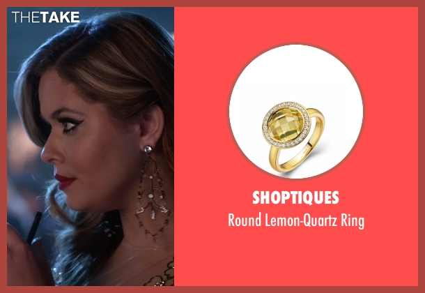 Shoptiques yellow ring from Pretty Little Liars seen with Alison DiLaurentis (Sasha Pieterse)