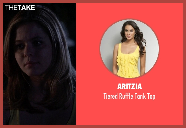Aritzia yellow top from Pretty Little Liars seen with Alison DiLaurentis (Sasha Pieterse)