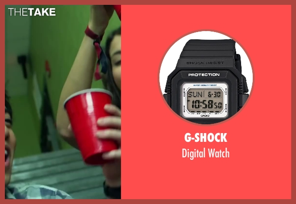 G-Shock black watch from Project Almanac seen with Allen Evangelista (Adam)
