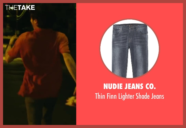 Nudie Jeans Co. blue jeans from Project Almanac seen with Allen Evangelista (Adam)