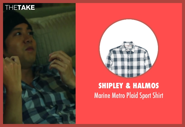 Shipley & Halmos blue shirt from Project Almanac seen with Allen Evangelista (Adam)