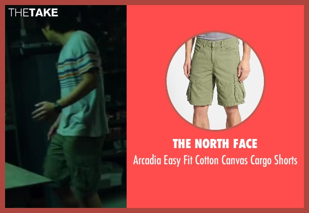 The North Face green shorts from Project Almanac seen with Allen Evangelista (Adam)