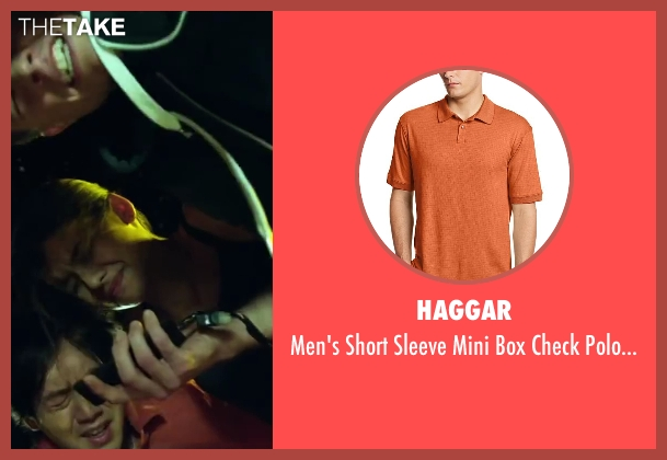 Haggar orange shirt from Project Almanac seen with Allen Evangelista (Adam)