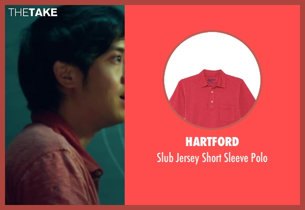 Hartford red polo from Project Almanac seen with Allen Evangelista (Adam)