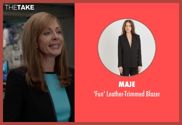 Maje black blazer from Spy seen with Allison Janney (Elaine Crocker)
