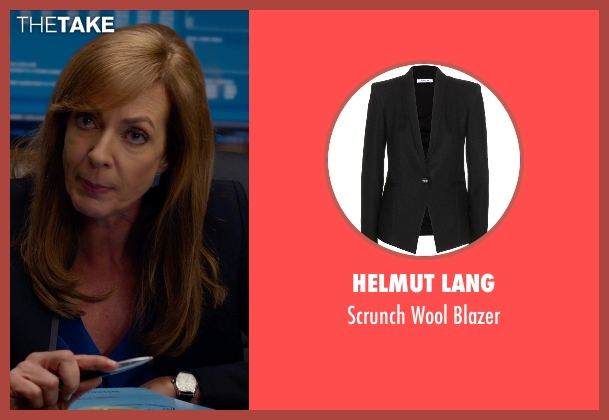 Helmut Lang black blazer from Spy seen with Allison Janney (Elaine Crocker)
