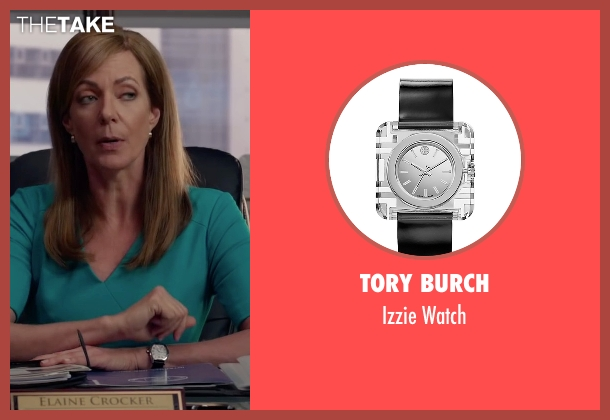 Tory Burch black watch from Spy seen with Allison Janney (Elaine Crocker)