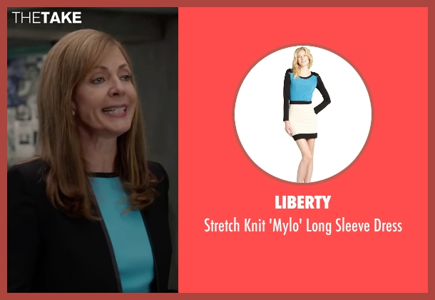 Liberty blue dress from Spy seen with Allison Janney (Elaine Crocker)
