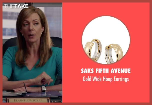 Saks Fifth Avenue earrings from Spy seen with Allison Janney (Elaine Crocker)