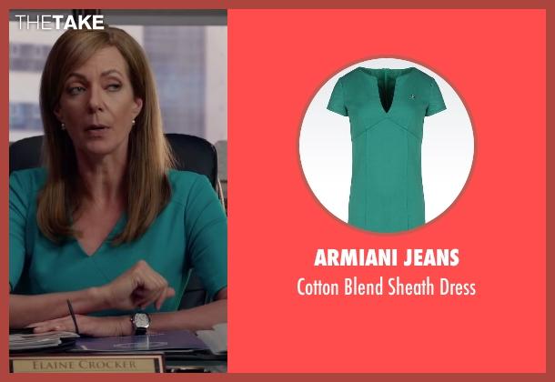 Armiani Jeans green dress from Spy seen with Allison Janney (Elaine Crocker)