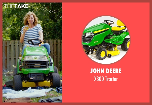 John Deere tractor from The DUFF seen with Allison Janney (Mrs. Piper)