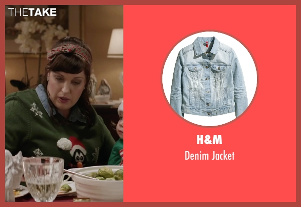 H&M blue jacket from Krampus seen with Allison Tolman (Unknown Character)