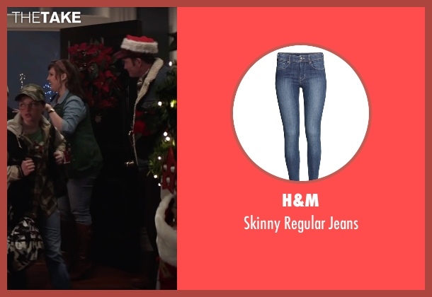 H&M blue jeans from Krampus seen with Allison Tolman (Unknown Character)