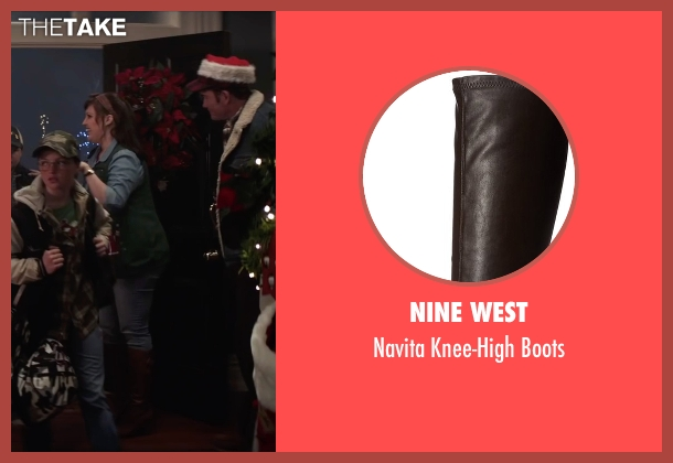 Nine West brown boots from Krampus seen with Allison Tolman (Unknown Character)