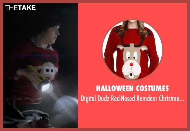 Halloween Costumes red sweater from Krampus seen with Allison Tolman (Unknown Character)