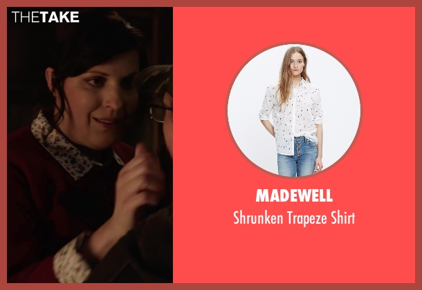Madewell white shirt from Krampus seen with Allison Tolman (Unknown Character)