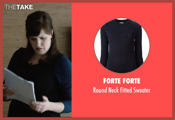 Forte Forte blue sweater from The Gift seen with Allison Tolman (Unknown Character)