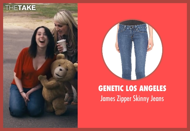 Genetic Los Angeles blue jeans from Ted seen with Ally Tully (Cute Girl Groped by Ted)