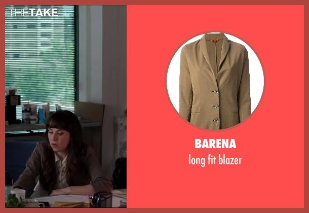 BARENA brown blazer from Million Dollar Arm seen with Allyn Rachel (Theresa)