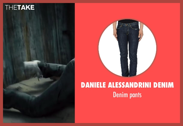 DANIELE ALESSANDRINI DENIM blue pants from Walk of Shame seen with Alphonso McAuley (Pookie)