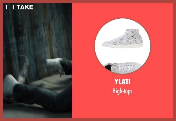 YLATI white high-tops from Walk of Shame seen with Alphonso McAuley