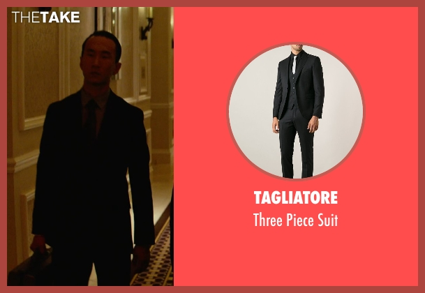 Tagliatore black suit from Focus seen with Alvin Chon (Bodyguard #1)