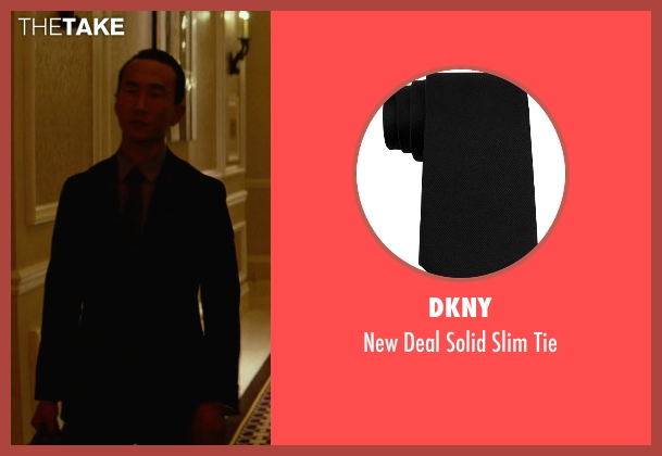 DKNY black tie from Focus seen with Alvin Chon (Li Yuan Bodyguard #2)