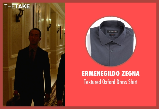 Ermenegildo Zegna gray shirt from Focus seen with Alvin Chon (Li Yuan Bodyguard #2)