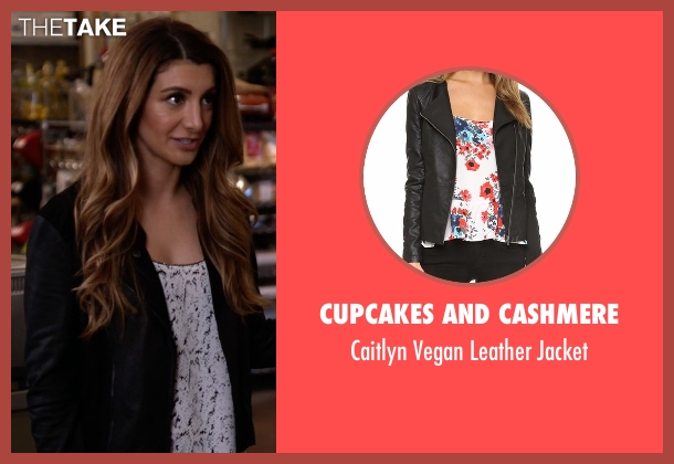 Cupcakes And Cashmere black jacket from New Girl seen with Aly Nelson (Nasim Pedrad)