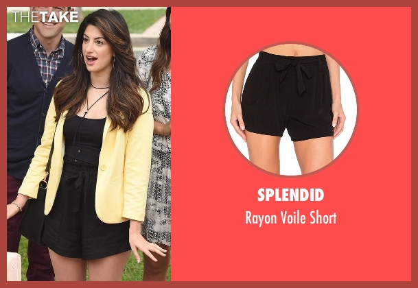 Splendid black short from New Girl seen with Aly Nelson (Nasim Pedrad)