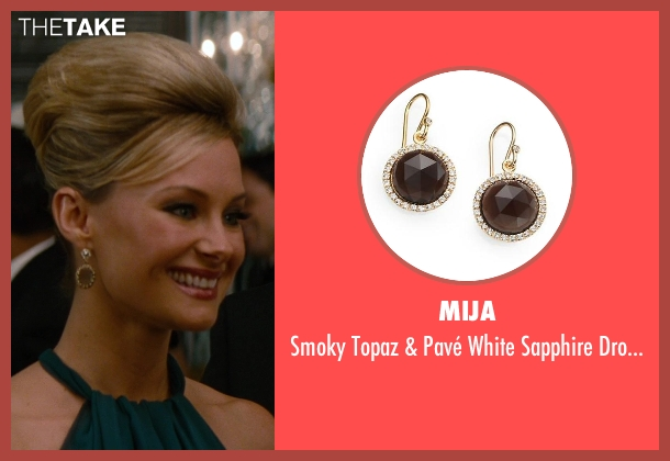 Mija brown earrings from The Other Woman seen with Alyshia Ochse (Cece)