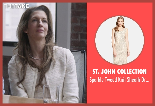 St. John Collection beige dress from That Awkward Moment seen with Alysia Reiner (Amanda Silverman)
