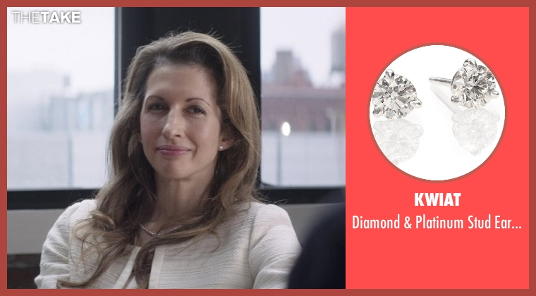 Kwiat silver earrings from That Awkward Moment seen with Alysia Reiner (Amanda Silverman)